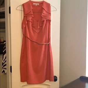 Evan Picone pink red dress size 12